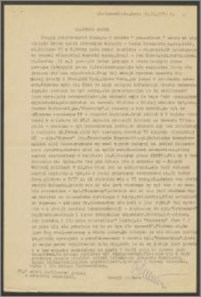 List Henryka Zaremby z dnia 29 listopada 1972 roku