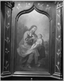 """Święta Lipka. Kościół jezuitów [ob. Bazylika Nawiedzenia NMP]. Wnętrze. Ołtarz boczny. Obraz """"Św. Józef z Dzieciątkiem Jezus"""""""