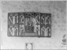 Sokolica (woj. warmińsko- mazurskie). Kościół parafialny św. Anny. Wnętrze. Tryptyk na północnej ścianie