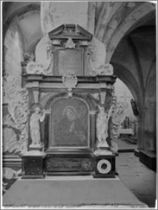 Sulejów. Opactwo cysterskie. Kościół św. Tomasza Kantuaryjskiego. Wnętrze. Ołtarz boczny św. Benedykta
