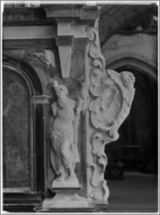 Sulejów. Opactwo cysterskie. Kościół św. Tomasza Kantuaryjskiego. Wnętrze. Ołtarz boczny św. Benedykta-fragment