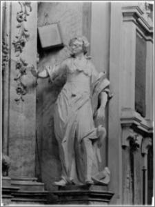 Sandomierz. Bazylika katedralna Narodzenia NMP. Wnętrze. Rzeźba aut. Macieja Polejowskiego w nawie południowej