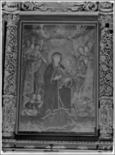 Sieraków – Kościół Pobernardyński Najświętszej Maryi Panny Niepokalanie Poczętej [Ołtarz boczny, Matka Boska na smoku w toczeniu aniołów, autorstwa Krzysztofa Boguszewskiego]