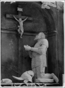Sieraków – Kościół Pobernardyński Najświętszej Maryi Panny Niepokalanie Poczętej [fragment nagrobka Piotra Opalińskiego, autorstwa Sebastiana Sali]