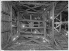 Sękowa – Kościół drewniany pw. św. Filipa i św. Jakuba [konstrukcja wieży]