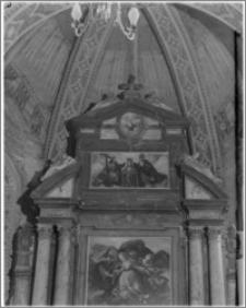 Zduńska Wola – kościół parafialny pw. Wniebowzięcia Najświętszej Maryi Panny [fragment ołtarza głównego]
