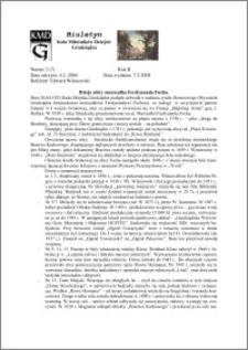 Biuletyn Koła Miłośników Dziejów Grudziądza 2004, Rok 2, nr 2(7) : Dzieje ulicy marszałka Ferdynanda Focha