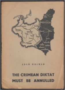 The Crimean diktat must be annulled