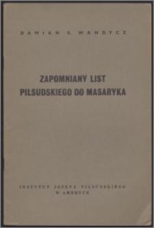Zapomniany list Piłsudskiego do Masaryka
