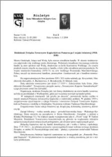 Biuletyn Koła Miłośników Dziejów Grudziądza 2004, Rok 2, nr 5(10) : Działalność Związku Towarzystw Kupieckich na Pomorzu po I wojnie światowej (1918-1930)