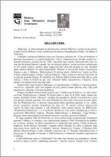 Biuletyn Koła Miłośników Dziejów Grudziądza 2004, Rok 2, nr 14(19) : Halleriana
