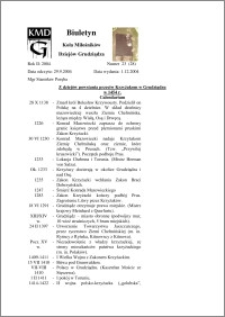 Biuletyn Koła Miłośników Dziejów Grudziądza 2004, Rok 2, nr 23(28) : Z dziejów powstania przeciw Krzyżakom w Grudziądzu w 1454 r. Calendarium