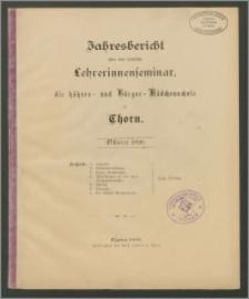 Jahresbericht über das städtiche Lehrerinnenseminar, die höhere- und Bürger-Mädchenschule zu Thorn. Ostern 1890