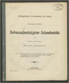 Königliches Gymnasium zu Conitz. Schuljahr 1887/88. Siebenundsechzigster Jahresbericht
