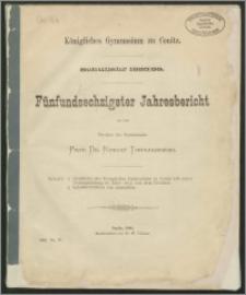 Königliches Gymnasium zu Conitz. Schuljahr 1885/86. Fünfundsechzigster Jahresbericht