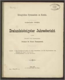 Königliches Gymnasium zu Konitz. Schuljahr 1893/94. Dreiundsiebzigster Jahresbericht