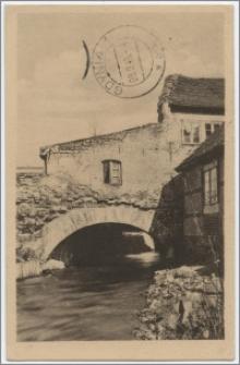Aus dem Blauen Ländchen : Lauenburg i. Pomm. Stadt und Kreis : Austritt des Schloßmühlengrabens durch die alte Stadtmaye