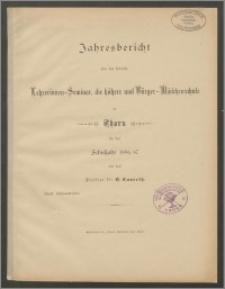 Jahresbericht über das Städtiche Lehrerinnen-Seminar, die höhere- und Bürger-Mädchenrschule zu Thorn für das Schujahr 1886/87