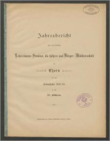 Jahresbericht über das städtiche Lehrerinnen-Seminar, die höhere- und Bürger-Mädchenrschule zu Thorn für das Schujahr 1887/88