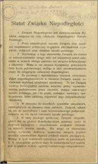 Statut Związku Niepodległości