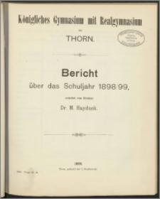 Bericht über das Schuljahr 1898/99