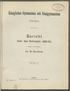 Bericht über das Schuljahr 1895/96