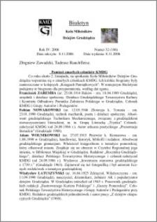 Biuletyn Koła Miłośników Dziejów Grudziądza 2006, Rok 4, nr 32(106): Pamięci zmarłych członków KMDG