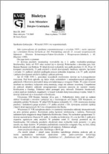 Biuletyn Koła Miłośników Dziejów Grudziądza 2005, , Rok 3, nr 22(61) : Wrzesień 1939 r we wspomnieniach.