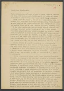 List Janiny Miłosz z 8 września 1969 roku