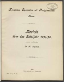 Bericht über das Schuljahr 1894/95