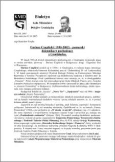Biuletyn Koła Miłośników Dziejów Grudziądza 2005, Rok 3, nr 27(66) : Dariusz Czaplicki (1930-2002) - pomorski dziennikarz pochodzący z Grudziądza.