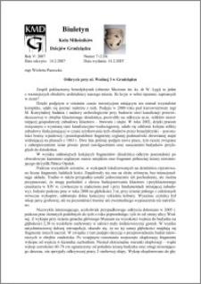 Biuletyn Koła Miłośników Dziejów Grudziądza 2007, Rok 5, nr 7(120) : Odkrycie przy ul. Wodnej 3 w Grudziądzu