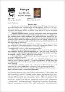 Biuletyn Koła Miłośników Dziejów Grudziądza 2007, Rok 5, nr 12(125) : Gorejące ognie