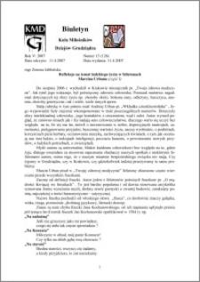 Biuletyn Koła Miłośników Dziejów Grudziądza 2007, Rok 5, nr 13(126) : Refleksje na temat ludzkiego życia w felietonach Marcina Urbana (część I)