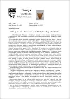 Biuletyn Koła Miłośników Dziejów Grudziądza 2007, Rok 5, nr 15(128) : Kolekcja huculska Muzeum im. ks. dr Władysława Łęgi w Grudziądzu