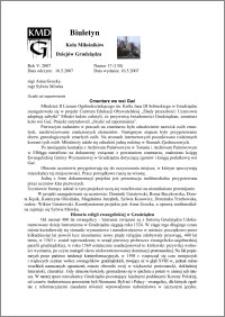 Biuletyn Koła Miłośników Dziejów Grudziądza 2007, Rok 5, nr 17(130) : Ocalić od zapomnienia : Cmentarz we wsi Gać