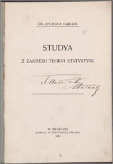 Studia z zakresu teorii statystyki