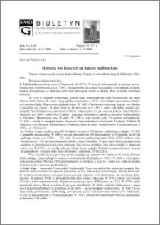 Biuletyn Koła Miłośników Dziejów Grudziądza 2008, Rok VI, nr 18(171): Historia wsi leżących na trakcie malborskim