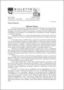 Biuletyn Koła Miłośników Dziejów Grudziądza 2008, Rok VI, nr 31(184) Historia Wełcza