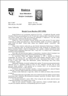 Biuletyn Koła Miłośników Dziejów Grudziądza 2007, Rok 5, nr 22(135) : Ksiądz Leon Kuchta (1917-1995)