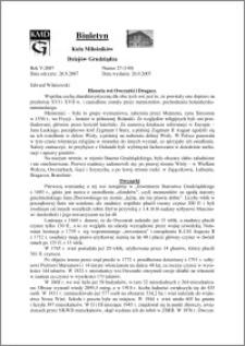 Biuletyn Koła Miłośników Dziejów Grudziądza 2007, Rok 5, nr 27(140) : Historia wsi Owczarki i Dragacz.