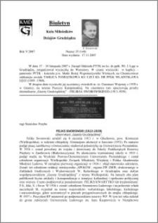 """Biuletyn Koła Miłośników Dziejów Grudziądza 2007, Rok 5, nr 35(148) : Feliks Sworowski (1913-1939) dziennikarz """"Gazety Grudziądzkiej"""""""