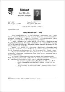 Biuletyn Koła Miłośników Dziejów Grudziądza 2007, Rok 5, nr 37(150) : Ignacy Mościcki (1867 – 1946)
