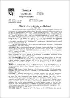 Biuletyn Koła Miłośników Dziejów Grudziądza 2007, Rok 5, nr 38(151) : Aktorki i aktorzy teatrów grudziądzkichz lat 1921 - 32