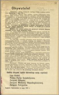 Obywatele! [Inc.:] Obchodzimy piękną, świętą dla każdego Polaka rocznicę uchwalenia Konstytucji 3 maja 1791 r. [...]