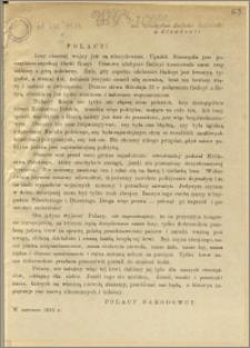 Polacy! [Inc.:] Losy obecnej wojny już są zdecydowane. Upadek Przemyśla początkiem zupełnej klęski Rosyi [...]
