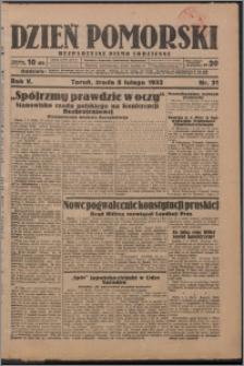 Dzień Pomorski 1933.02.08, R. 5 nr 31