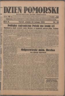 Dzień Pomorski 1933.02.24, R. 5 nr 45