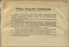 [Ulotka] : [Inc.:] Polska Pożyczka Państwowa