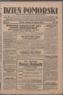Dzień Pomorski 1933.03.15, R. 5 nr 61